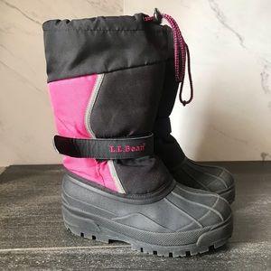 LL Bean Northwoods Pink Black Waterproof Snow Boot